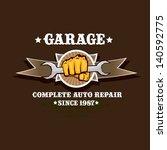 vector garage label. vector... | Shutterstock .eps vector #140592775