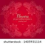 wreath of roses or peonies... | Shutterstock .eps vector #1405931114