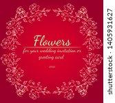 wreath of roses or peonies... | Shutterstock .eps vector #1405931627