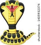 Cartoon King Cobra Snake Mascot