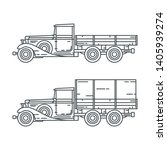line vector icon set american...   Shutterstock .eps vector #1405939274