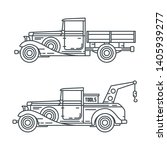 line vector icon set american...   Shutterstock .eps vector #1405939277