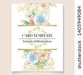 vintage delicate greeting... | Shutterstock .eps vector #1405949084
