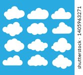 clouds icon  vector... | Shutterstock .eps vector #1405963271