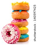 colorful delicious donuts... | Shutterstock . vector #140597425