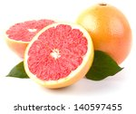 Grapefruit With Slices Isolate...