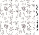 seamless pattern with leaf ... | Shutterstock . vector #140598061