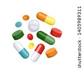 tablets of different colors and ... | Shutterstock .eps vector #1405989311