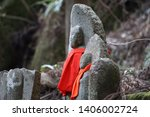 small stone buddha image is... | Shutterstock . vector #1406002724
