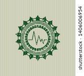 green electrocardiogram icon... | Shutterstock .eps vector #1406006954
