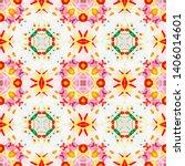 tibetan fabric. abstract... | Shutterstock . vector #1406014601