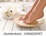 closeup view of woman soaking... | Shutterstock . vector #1406020457