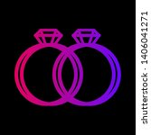 wedding icon for diamond ring... | Shutterstock .eps vector #1406041271