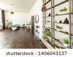 spacious studio apartment... | Shutterstock . vector #1406043137