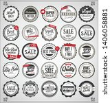 set of retro vintage labels and ... | Shutterstock . vector #1406058881
