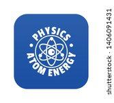 atom energy icon blue vector... | Shutterstock .eps vector #1406091431