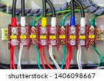 electric cable wire in circuit... | Shutterstock . vector #1406098667