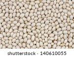 Closeup White  Beans Texture