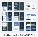 set of 9 double sided vertical... | Shutterstock .eps vector #1406106251