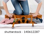 midsection of young woman... | Shutterstock . vector #140612287