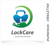 lock care logo design template | Shutterstock .eps vector #1406127764