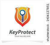 keys protect logo design... | Shutterstock .eps vector #1406127851