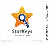 star keys logo design template | Shutterstock .eps vector #1406127854