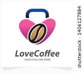 love coffee logo design template | Shutterstock .eps vector #1406127884
