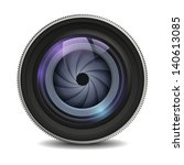 realistic isolated camera lens...