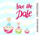 wedding invitation template.... | Shutterstock .eps vector #1406132561