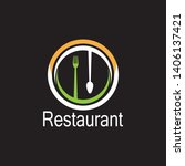 restaurant icon logo vector... | Shutterstock .eps vector #1406137421