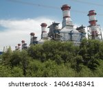 power plants meet nature ... | Shutterstock . vector #1406148341