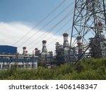 power plants meet nature ... | Shutterstock . vector #1406148347