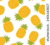 pineapple seamless pattern....   Shutterstock .eps vector #1406163827
