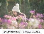 portrait of happy asian young... | Shutterstock . vector #1406186261