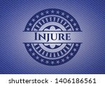 injure emblem with jean high...   Shutterstock .eps vector #1406186561