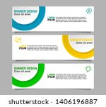 banner design with three color... | Shutterstock .eps vector #1406196887