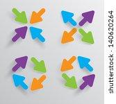 white arrows vector illustration | Shutterstock .eps vector #140620264
