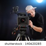 camera operator working with a... | Shutterstock . vector #140620285