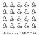 person and user thin line icon... | Shutterstock .eps vector #1406210174