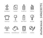 Set Of Recycling Icons. Vector...