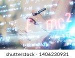 science formula hologram over... | Shutterstock . vector #1406230931