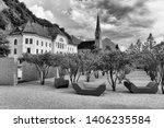 vaduz  liechtenstein. old...   Shutterstock . vector #1406235584