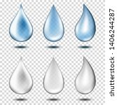 realistic transparent water...   Shutterstock .eps vector #1406244287