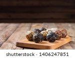 a group of energy balls lying... | Shutterstock . vector #1406247851