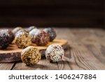 a group of energy balls lying... | Shutterstock . vector #1406247884