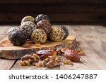 a group of energy balls lying... | Shutterstock . vector #1406247887