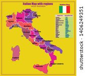 map of italy. bright... | Shutterstock .eps vector #1406249351