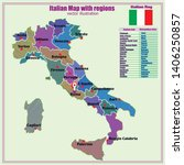 map of italy. bright... | Shutterstock .eps vector #1406250857