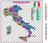 map of italy with transparent... | Shutterstock .eps vector #1406252417